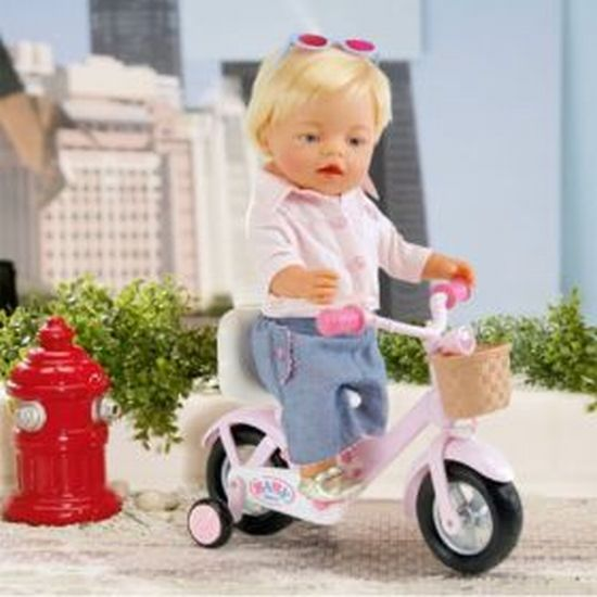 zapf creation 812181 baby born puppe mit fahrrad neu ovp. Black Bedroom Furniture Sets. Home Design Ideas