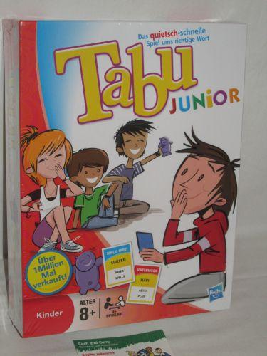 tabu junior hasbro 14334100 spiele ab 8 jahre neu ebay. Black Bedroom Furniture Sets. Home Design Ideas
